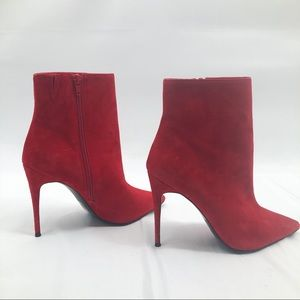 Aldo Areicia-62 suede red Pointy Booties